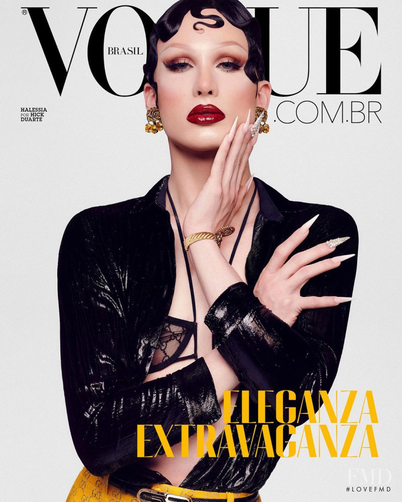 Halessia  featured on the Vogue Brazil cover from October 2020