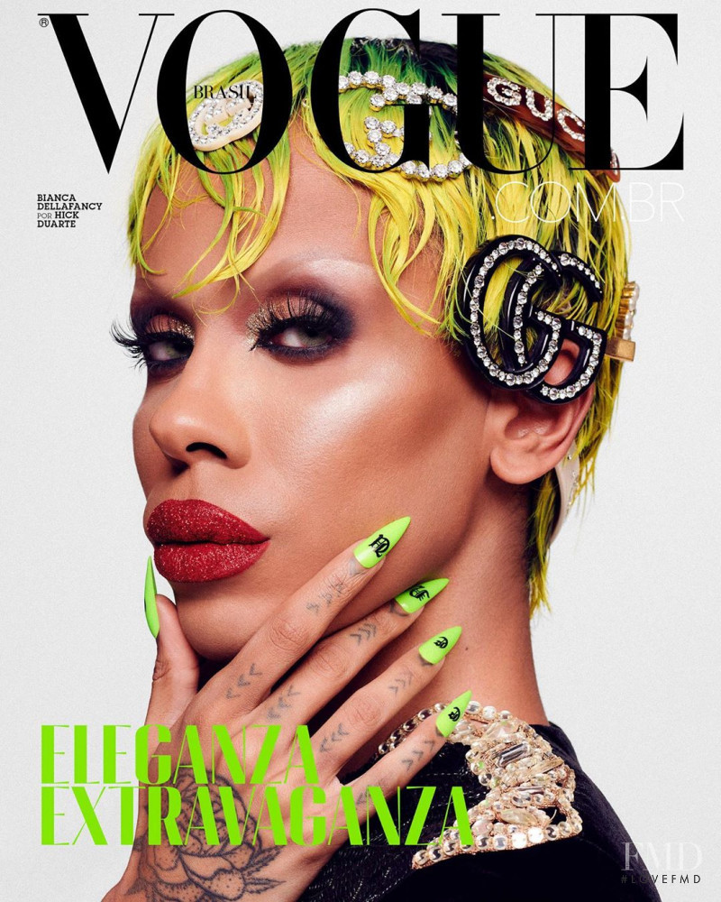 Bianca Della Fancy featured on the Vogue Brazil cover from October 2020