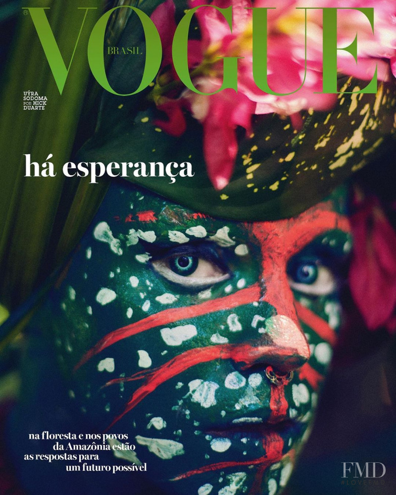 Uyra Sodoma  featured on the Vogue Brazil cover from September 2020