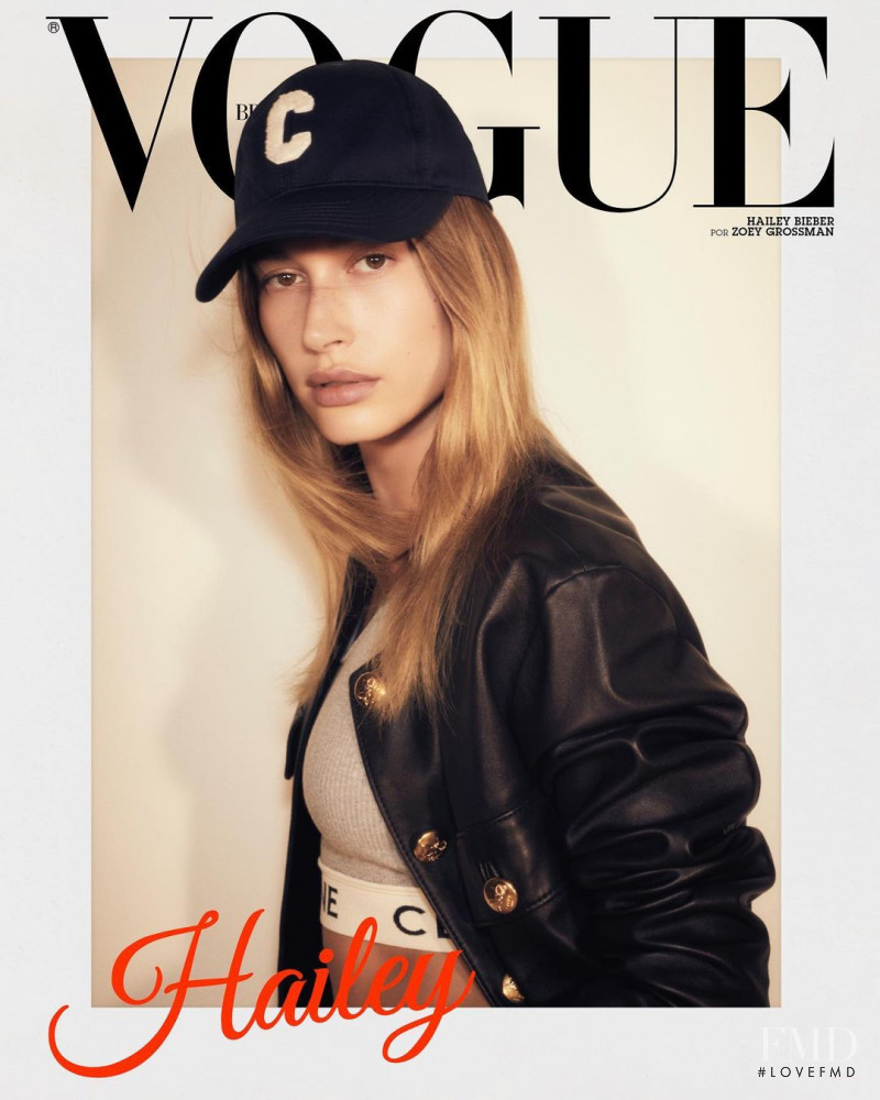 Hailey Baldwin Bieber featured on the Vogue Brazil cover from April 2021