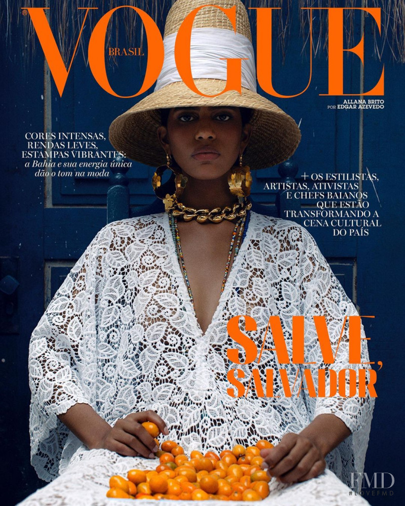 Allana Santos Brito featured on the Vogue Brazil cover from February 2021