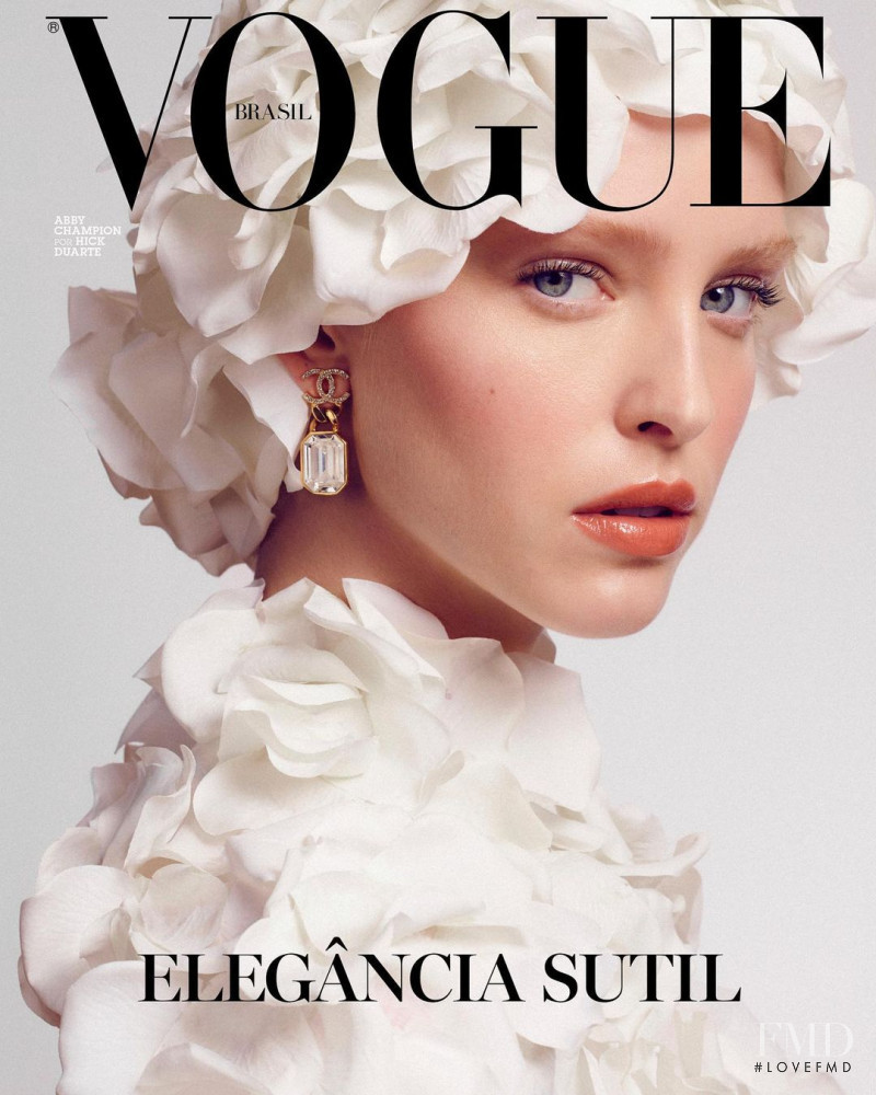 Abby Champion featured on the Vogue Brazil cover from January 2021