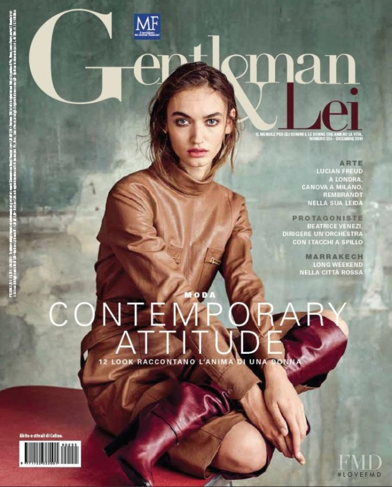 Beatrice Brusco featured on the Gentleman Italia cover from December 2019
