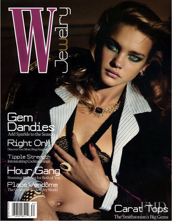 Natalia Vodianova featured on the W cover from November 2004