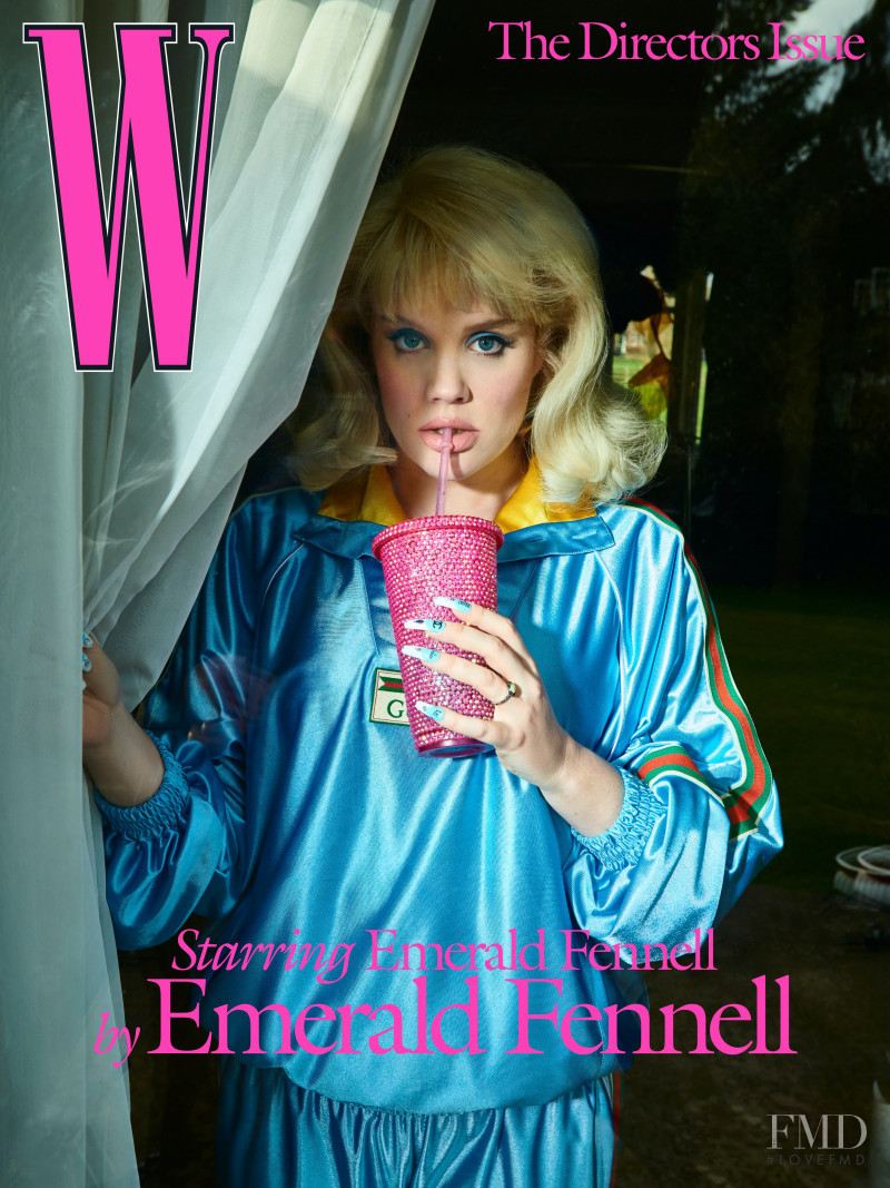 Emerald Fennell featured on the W cover from April 2021