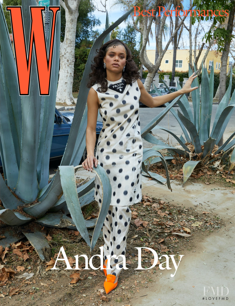 Andra Day featured on the W cover from March 2021