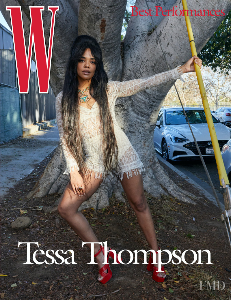 Tessa Thompson featured on the W cover from March 2021