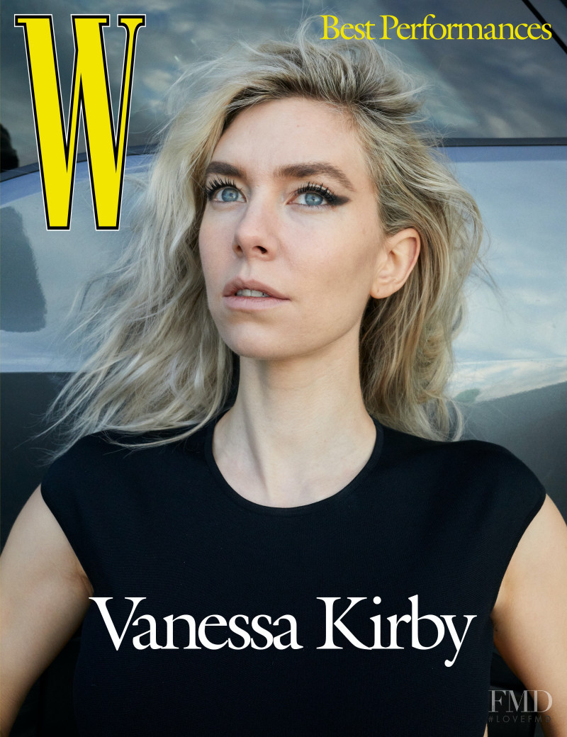 Vanessa Kirby featured on the W cover from March 2021