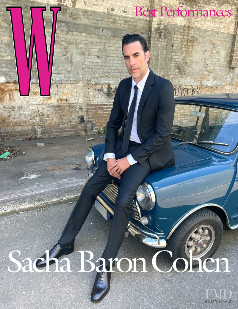 Sacha Baron Cohen featured on the W cover from March 2021