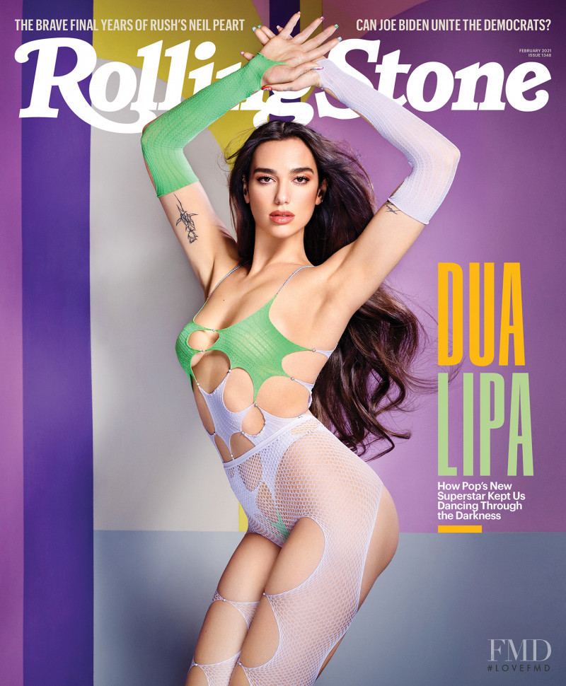 Dua Lipa featured on the Rolling Stone cover from February 2021