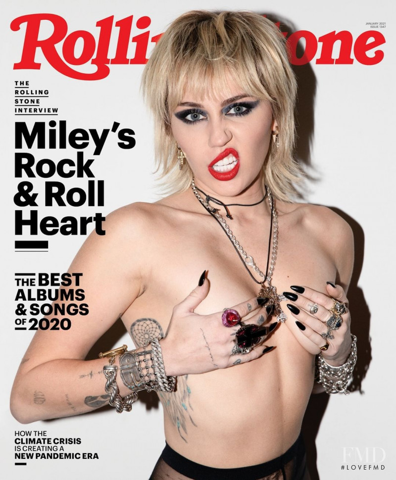 Miley Cyrus featured on the Rolling Stone cover from January 2021