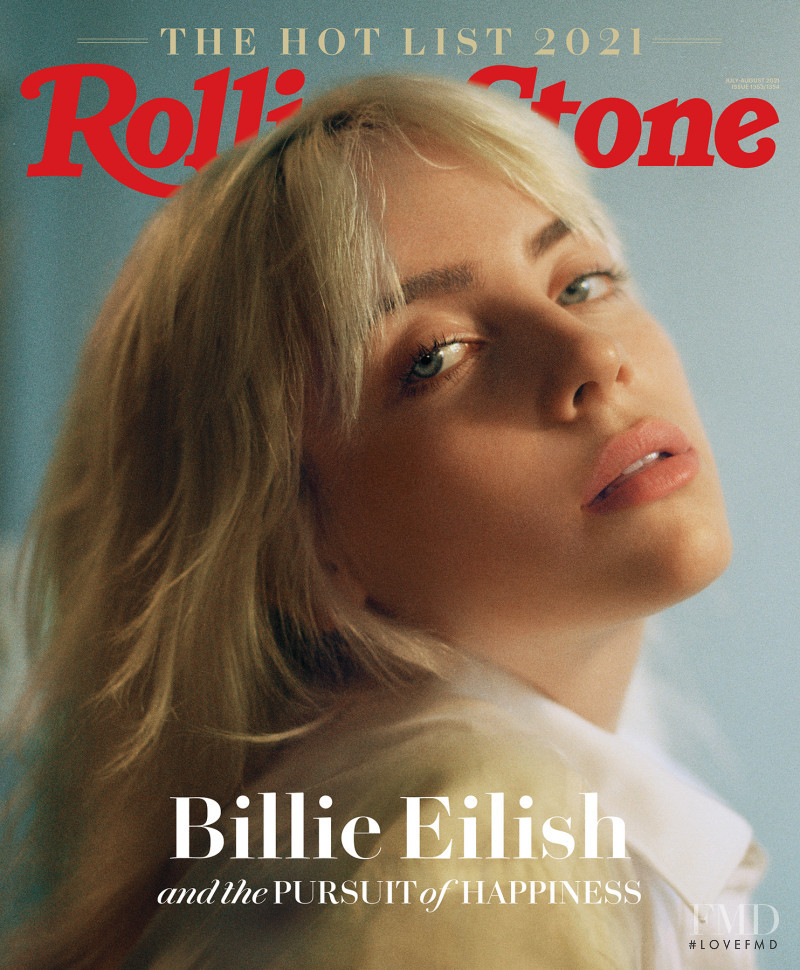 Billie Eilish featured on the Rolling Stone cover from July 2021
