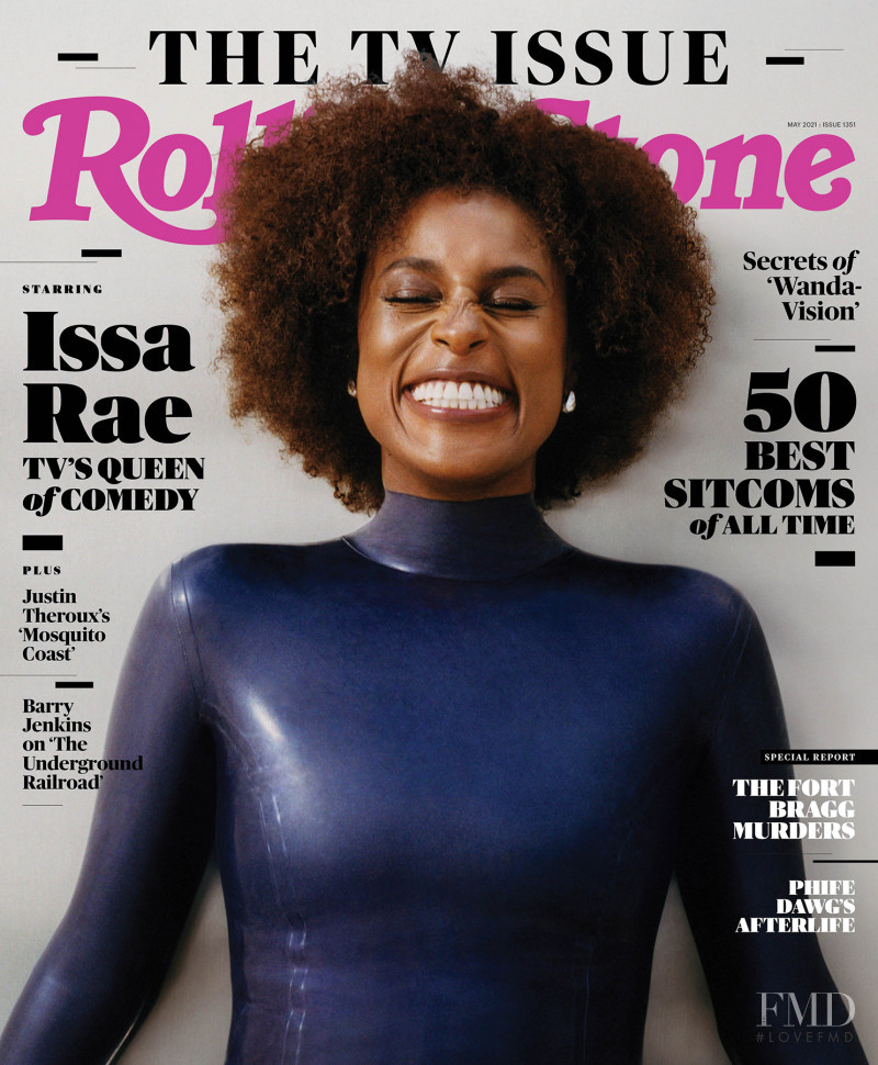 Issa Rae featured on the Rolling Stone cover from May 2021