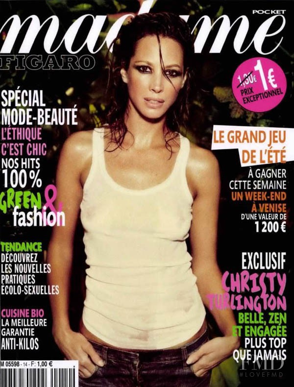 Christy Turlington featured on the Madame Figaro France cover from June 2011
