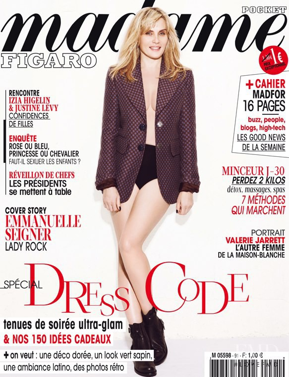 Emmanuelle Seigner featured on the Madame Figaro France cover from November 2012