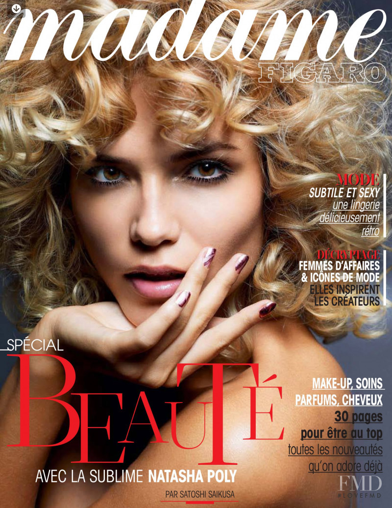 Natasha Poly featured on the Madame Figaro France cover from October 2012