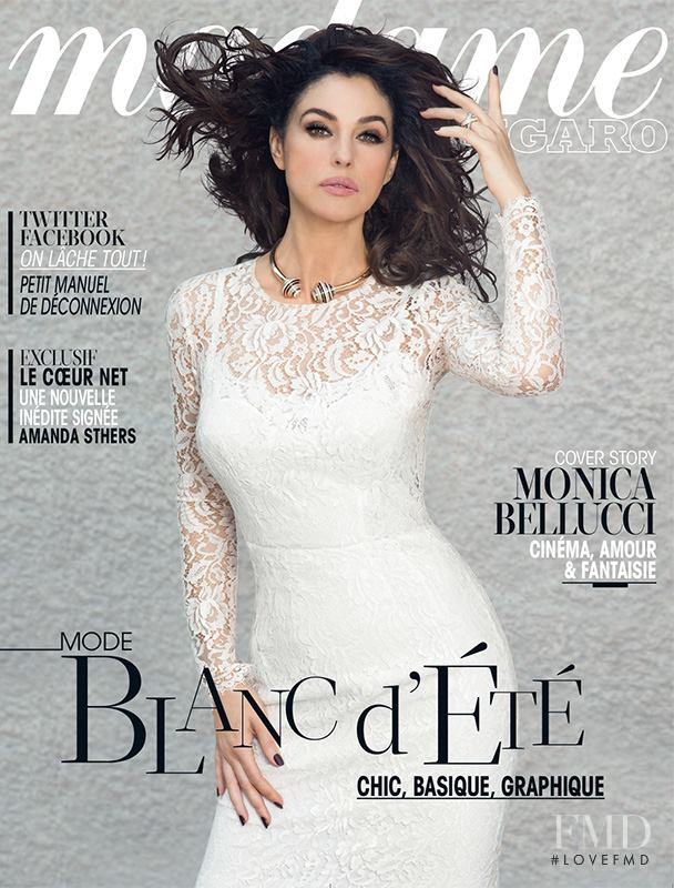Monica Bellucci featured on the Madame Figaro France cover from July 2013