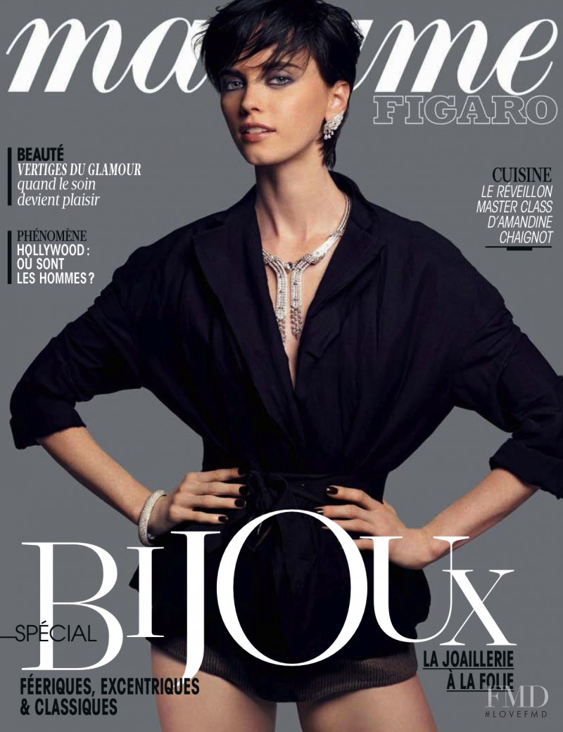 Aleksandra Martynyuk featured on the Madame Figaro France cover from November 2013