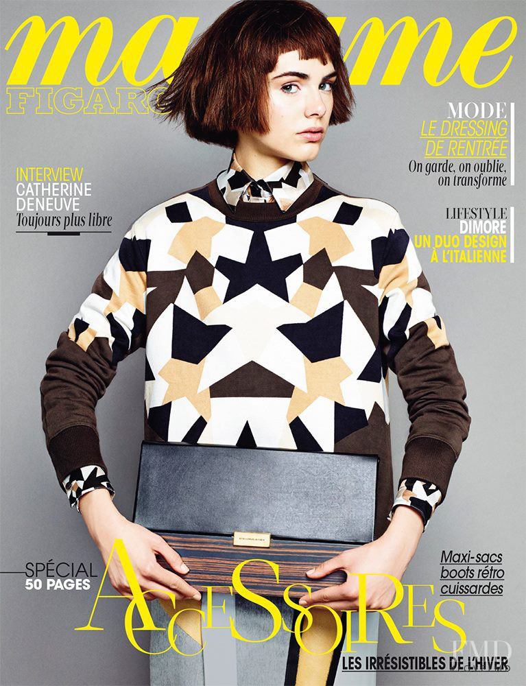 Anja Cihoric featured on the Madame Figaro France cover from September 2013