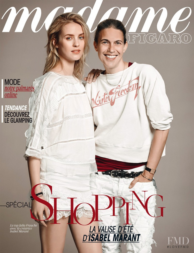 Isabel Marant featured on the Madame Figaro France cover from June 2014