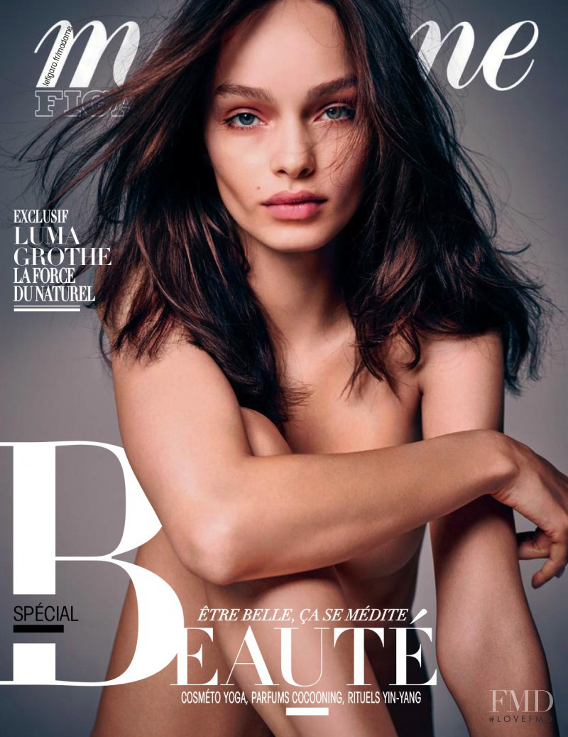 Luma Grothe featured on the Madame Figaro France cover from October 2015