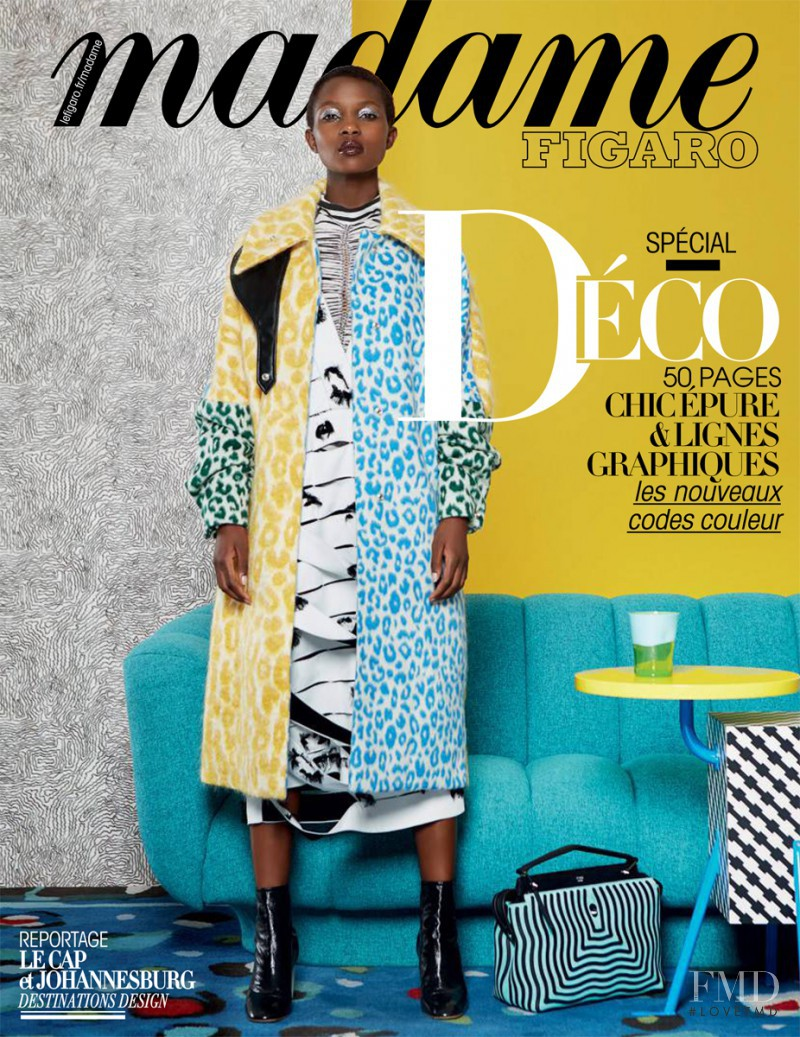Aliane Uwimana featured on the Madame Figaro France cover from October 2016