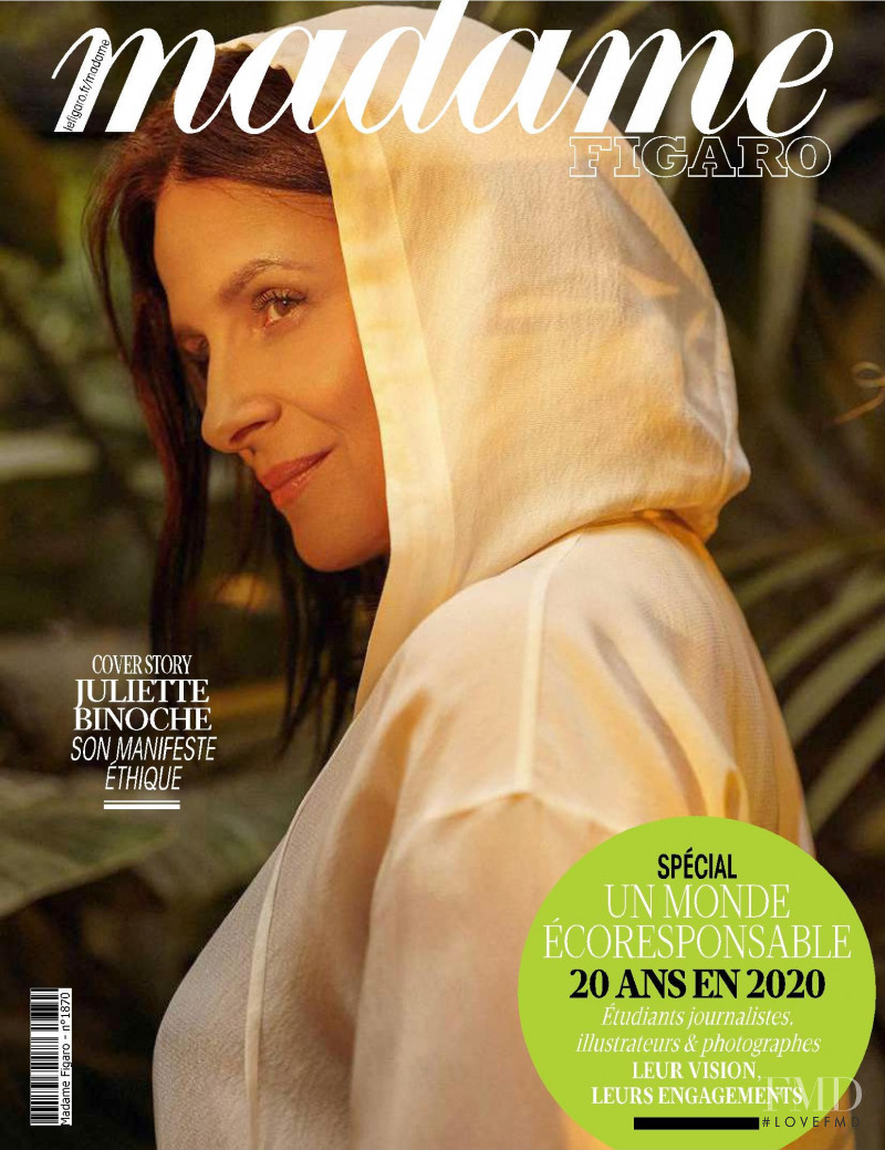 Juliette Binoche featured on the Madame Figaro France cover from June 2020