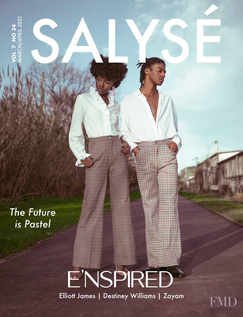 Destiney Williams, Zayam featured on the Salyse cover from March 2021