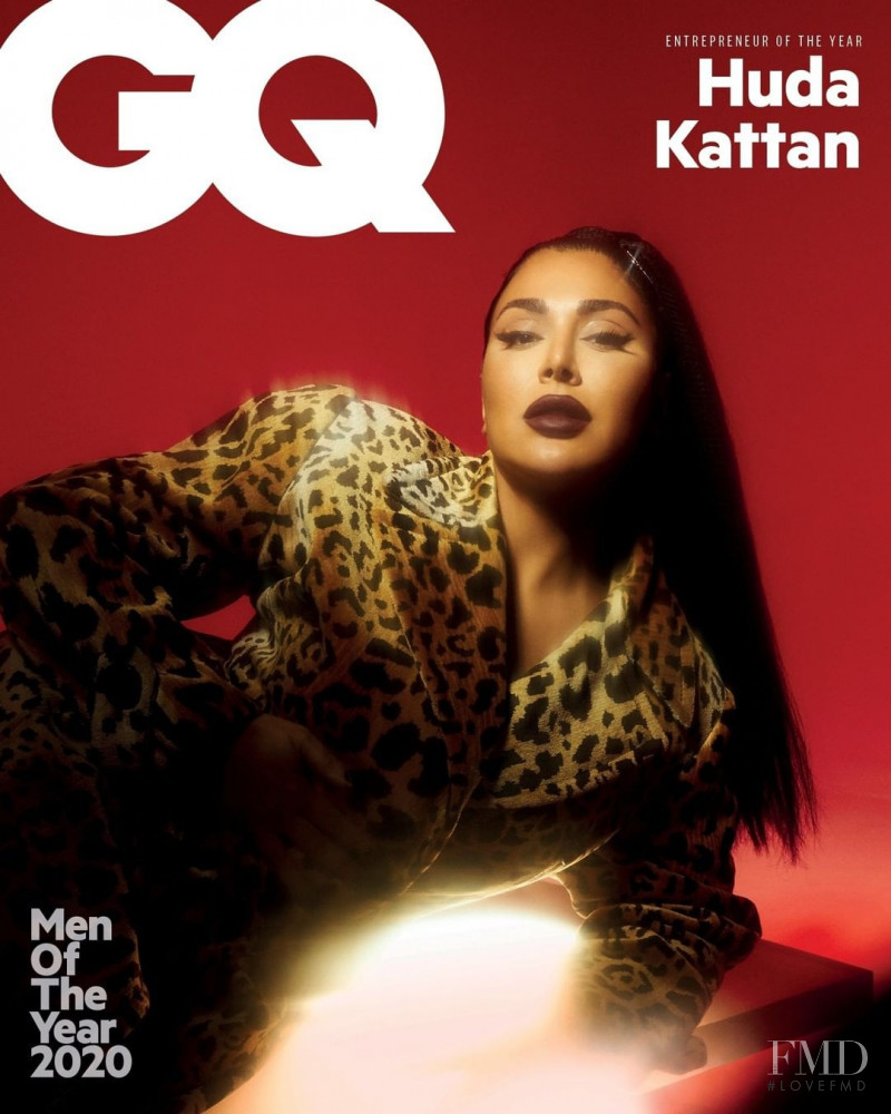 Huda Kattan featured on the GQ Middle East cover from December 2020