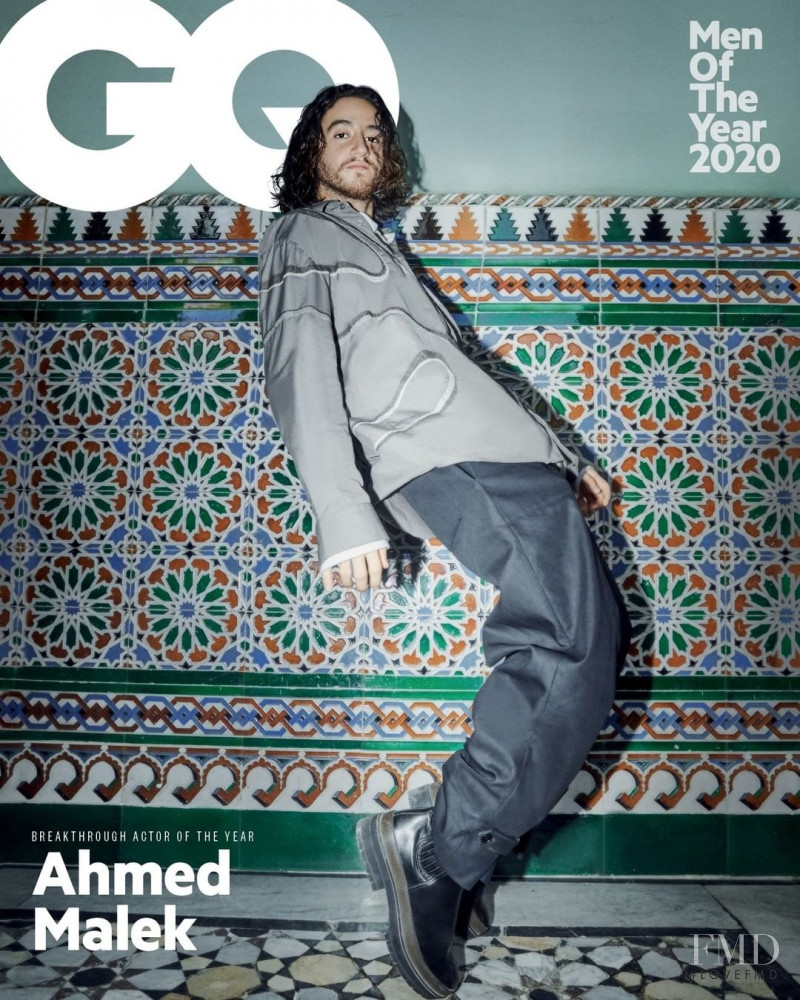 Ahmed Malek featured on the GQ Middle East cover from December 2020
