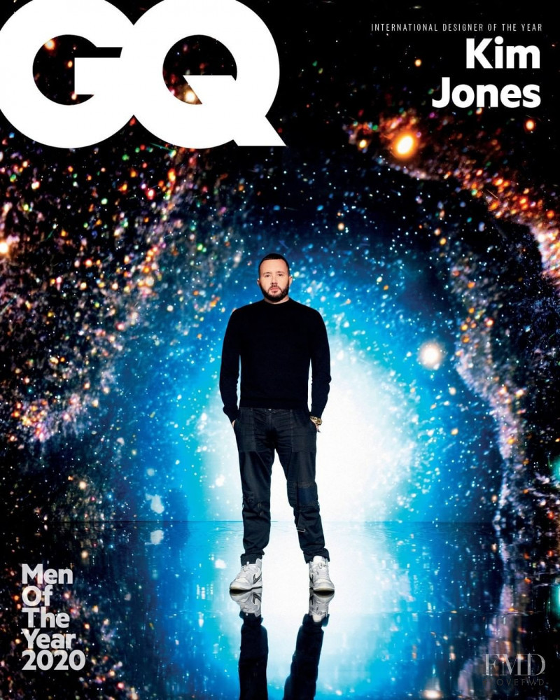 Kim Jones featured on the GQ Middle East cover from December 2020