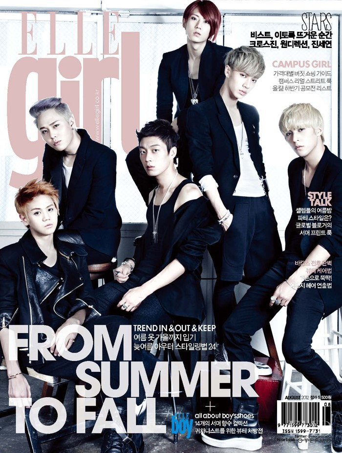 featured on the Elle Girl Korea cover from August 2012