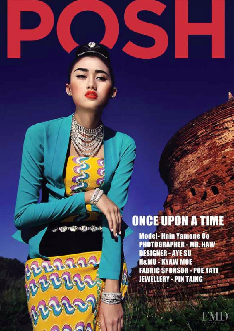 Hnin Yamone Oo featured on the Posh Myanmar cover from September 2015