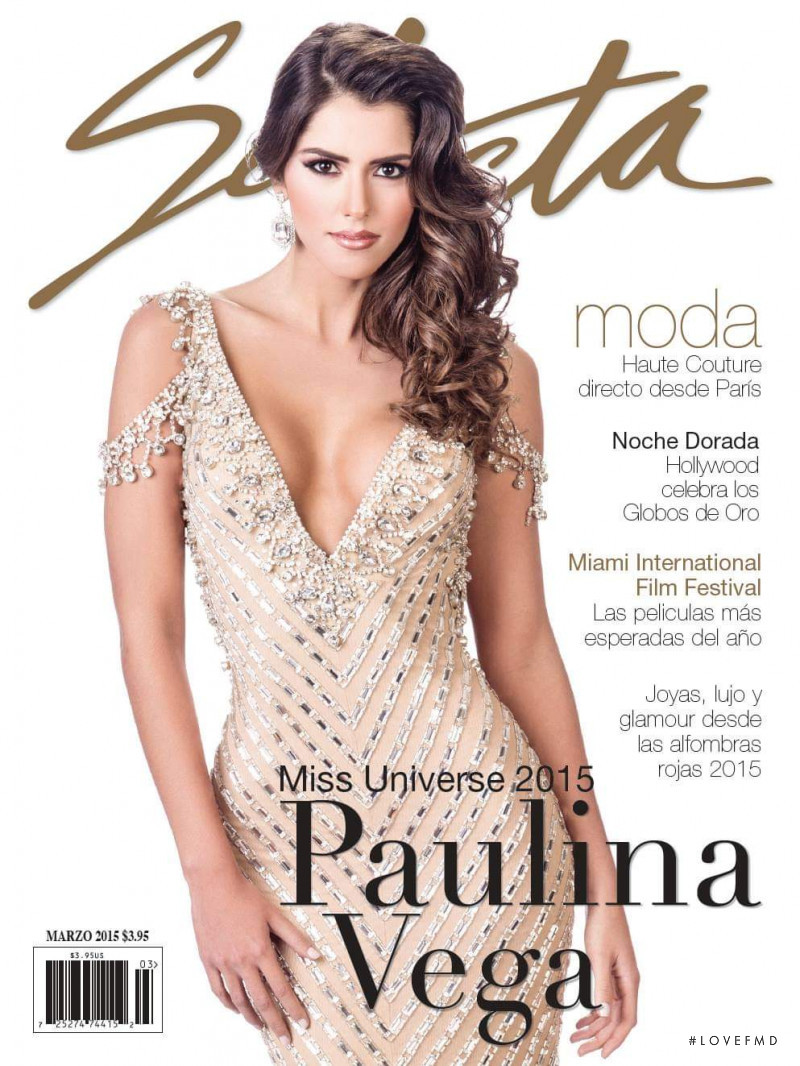 Paulina Vega featured on the Selecta cover from March 2015