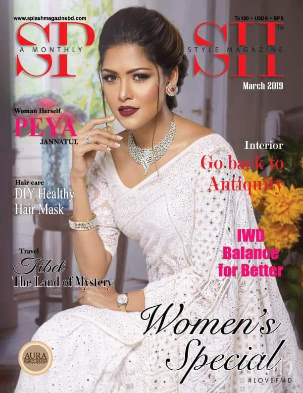 Peya Jannatul featured on the Splash cover from March 2019