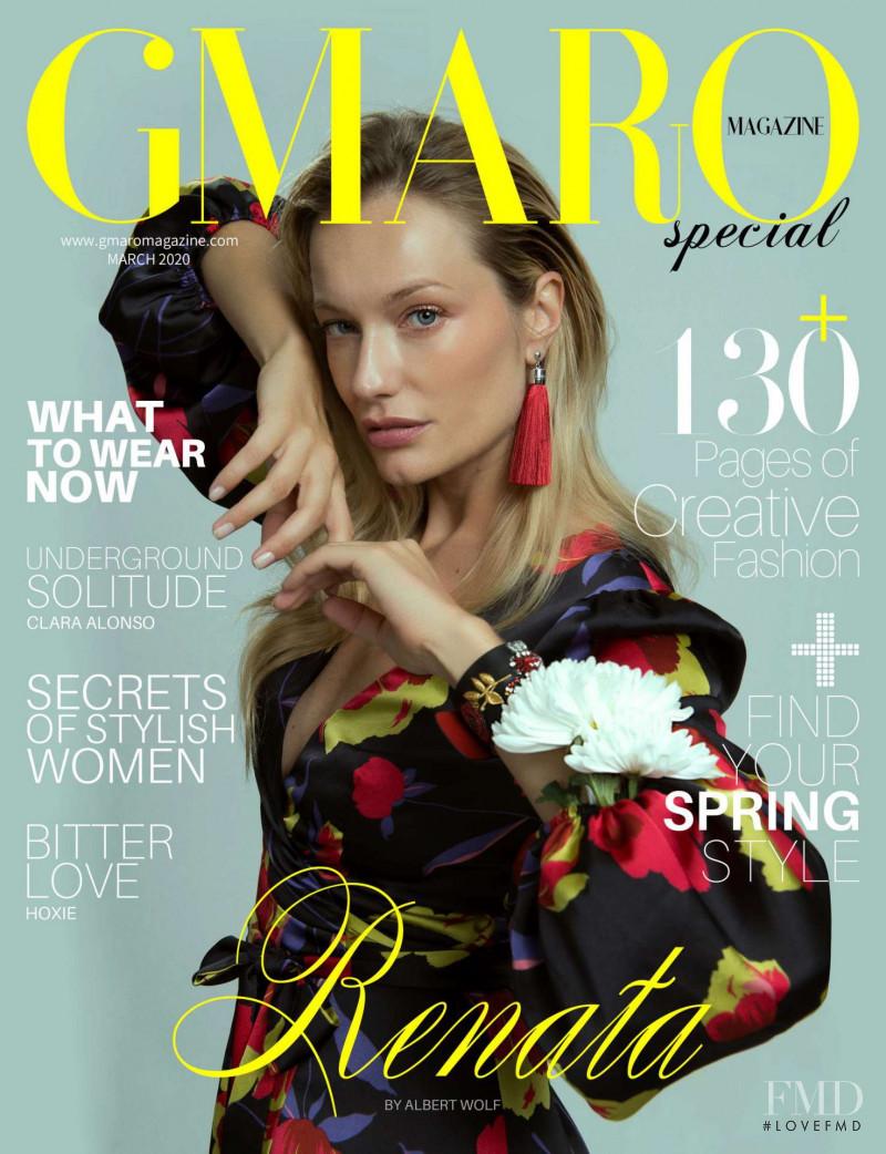 Renata Zanchi featured on the Gmaro Magazine cover from March 2020