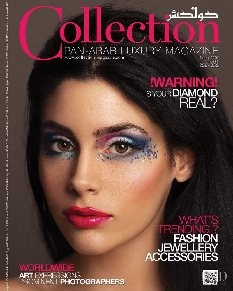 Isabella Bonifazio featured on the Collection Pan-Arab Luxury Magazine cover from March 2020