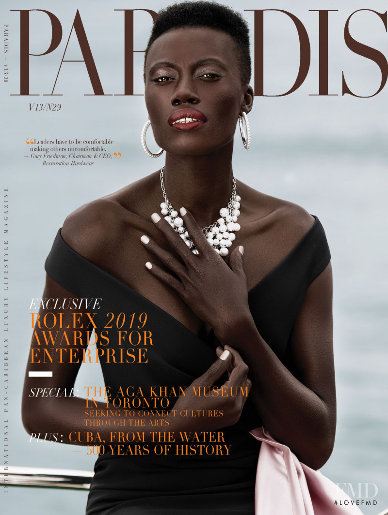 Kesha Blackwood featured on the Jamaque Paradis cover from October 2019