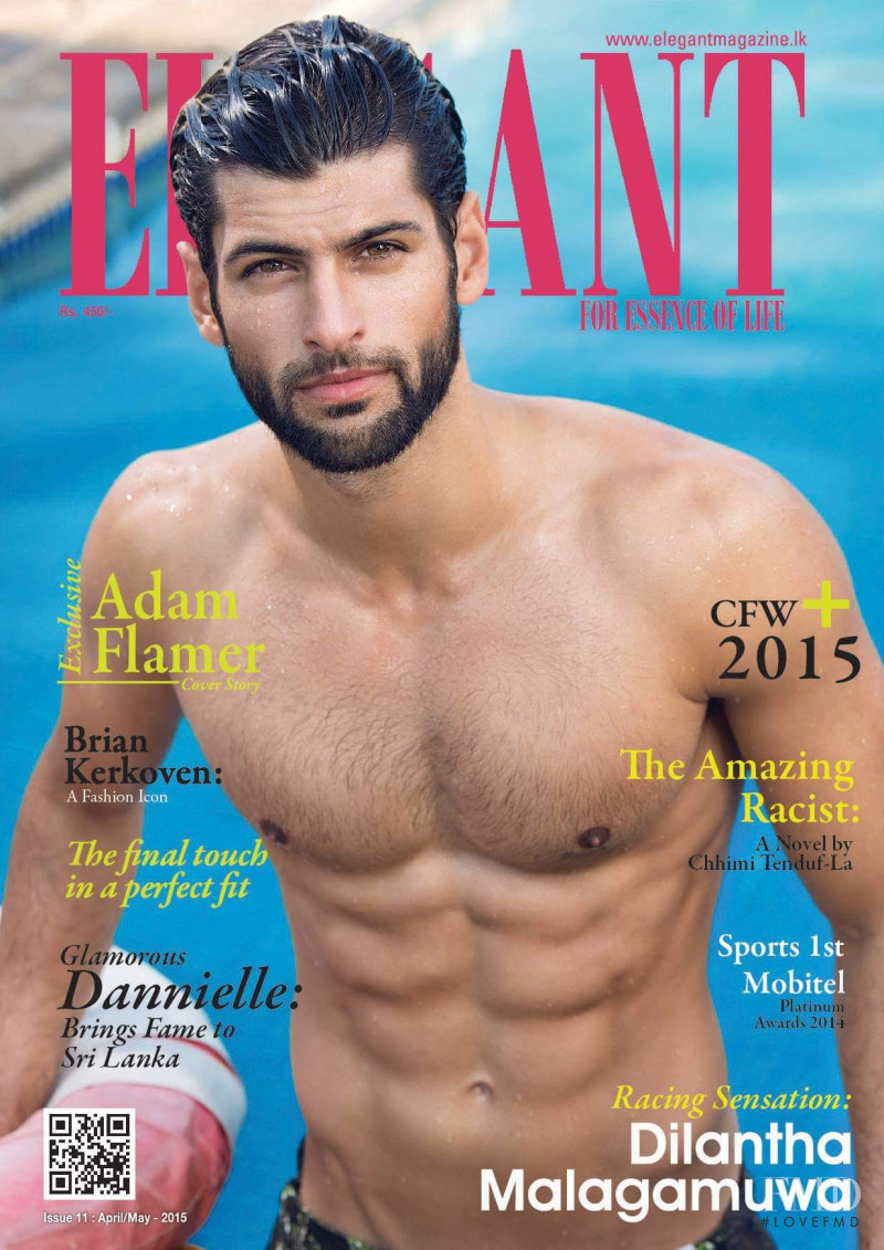 Adam Flamer featured on the Elegant Sri Lanka cover from April 2015
