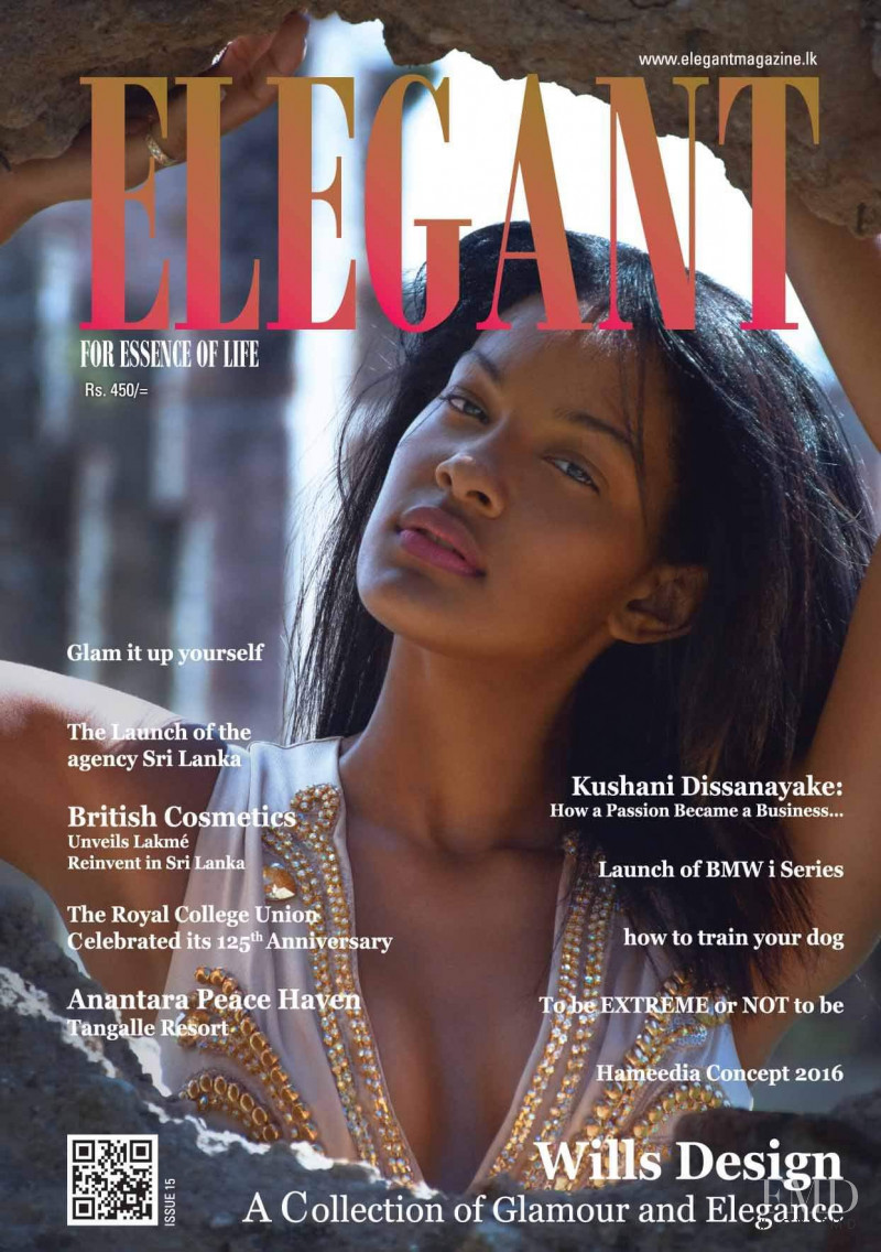 Paula Francisco featured on the Elegant Sri Lanka cover from April 2016