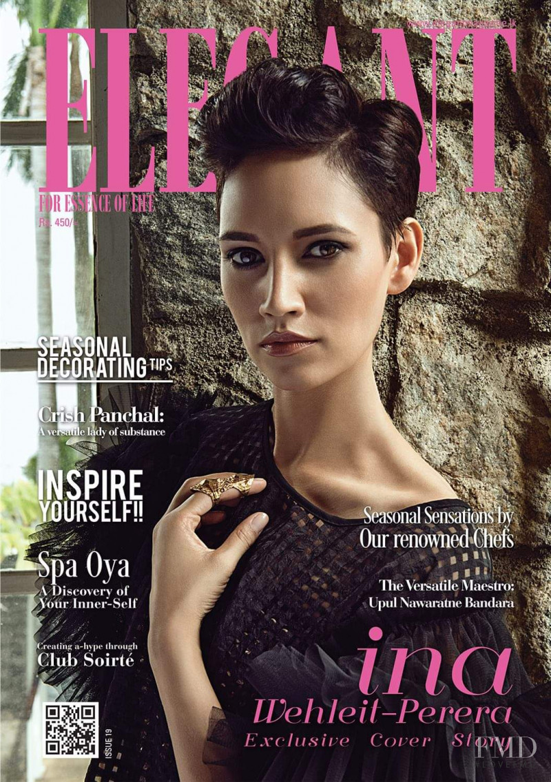 Ina Wehleit-Perera featured on the Elegant Sri Lanka cover from December 2016