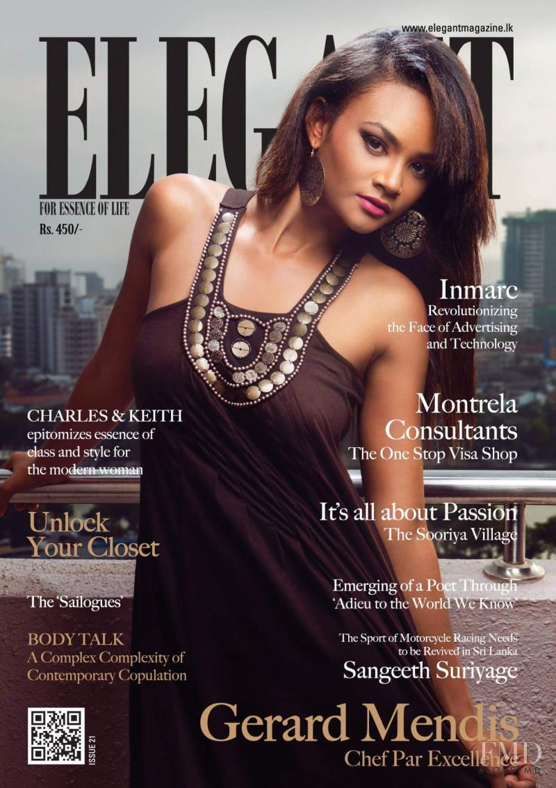 Trisha featured on the Elegant Sri Lanka cover from April 2017