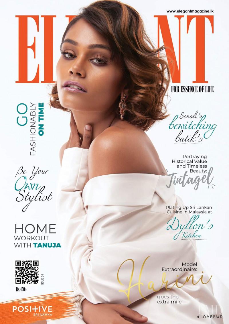 Harini Silva featured on the Elegant Sri Lanka cover from August 2019