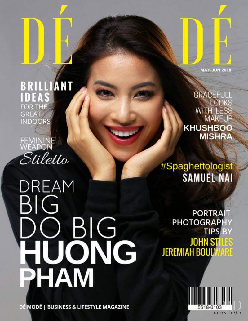 Huong Pham featured on the De Mode cover from May 2018