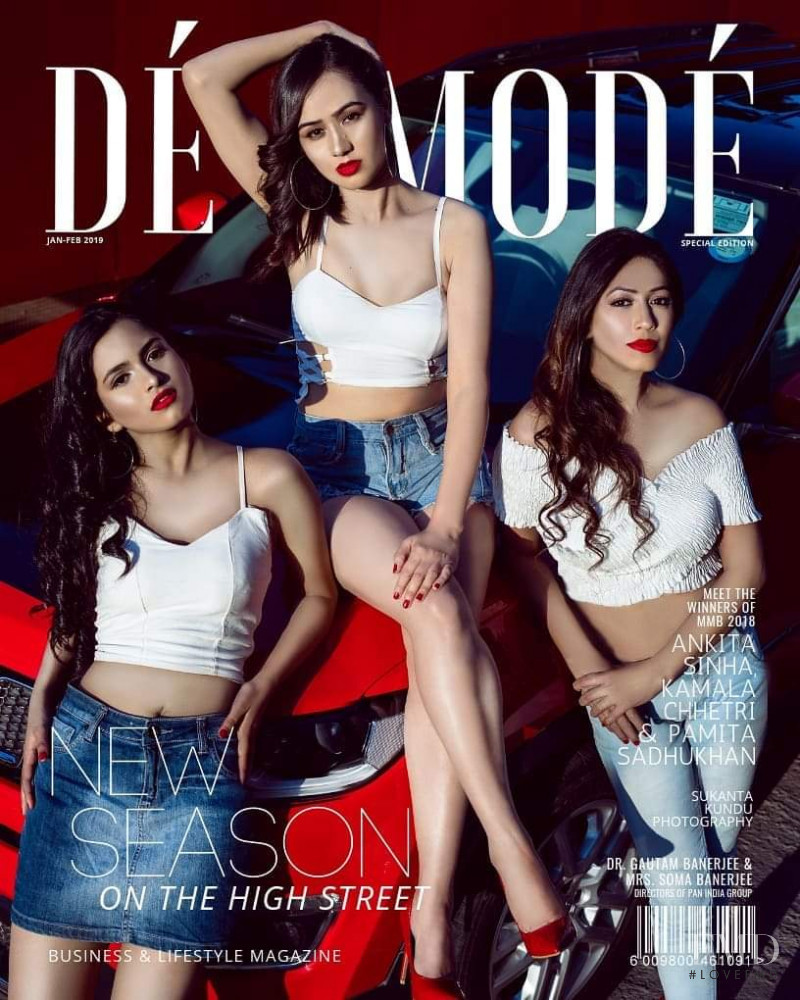 Ankita Sinha, Kamala Chhetri, Pamita Sadhukhan featured on the De Mode cover from January 2019