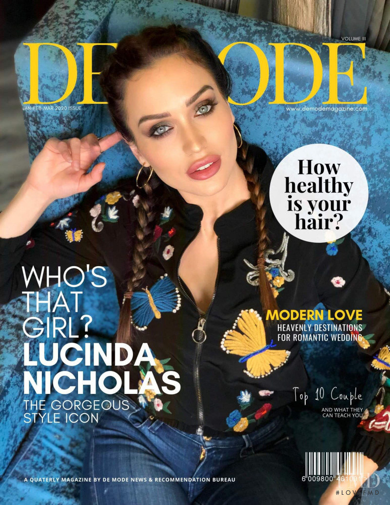 Lucinda Nicholas featured on the De Mode cover from January 2020