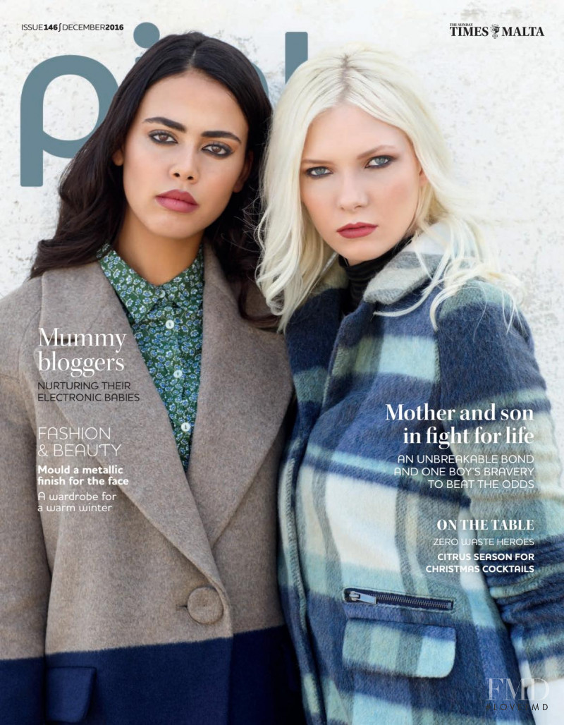 Issy Cain, Chloe Fava featured on the Pink Malta cover from December 2016