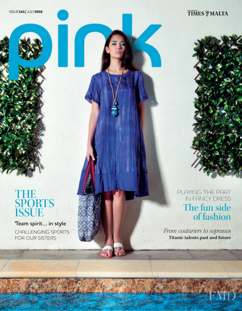 Amy Zahra featured on the Pink Malta cover from July 2016