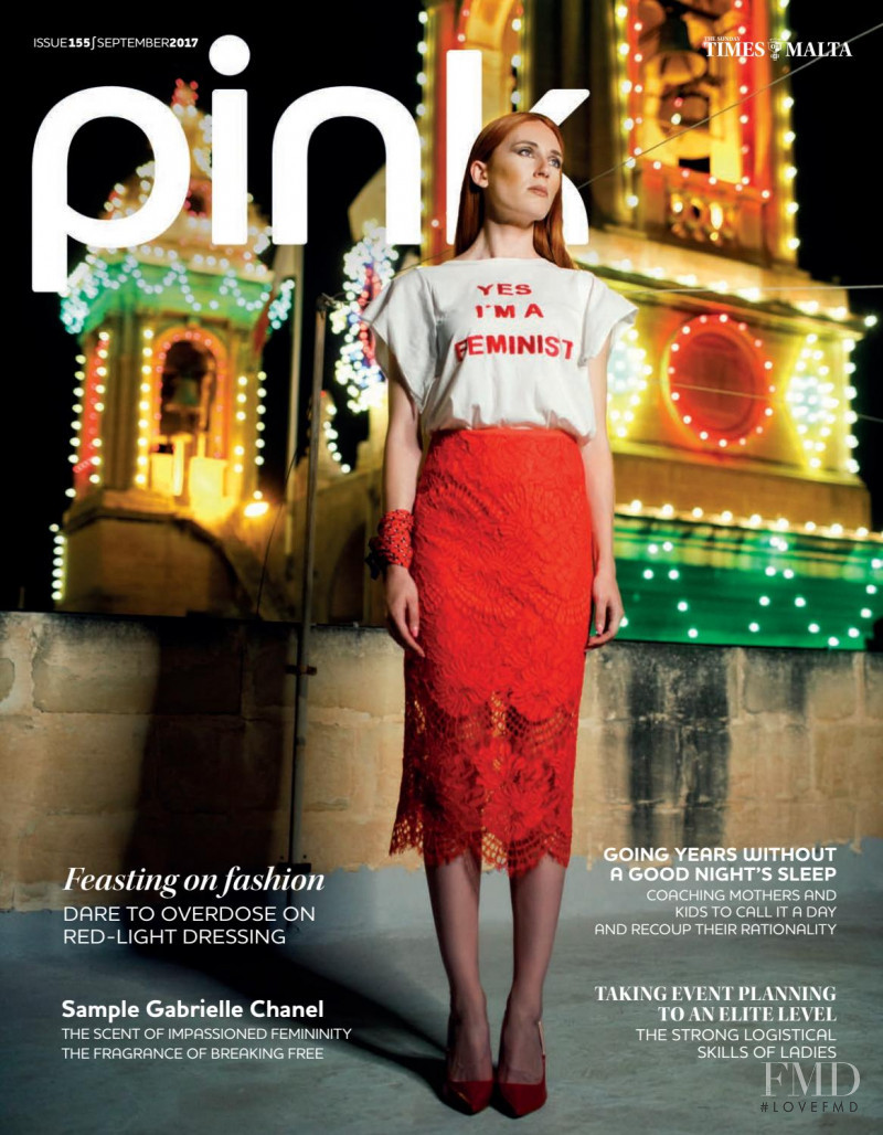 Madeleine Baldacchino featured on the Pink Malta cover from September 2017