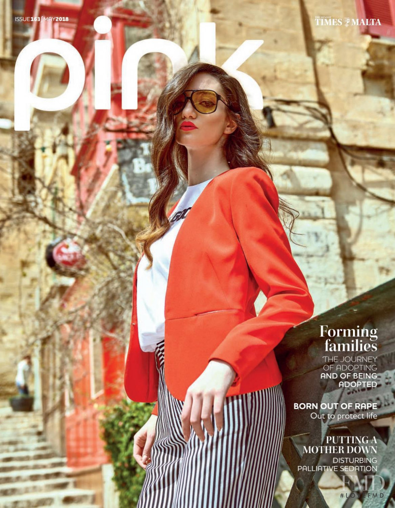 Rebecca Camilleri featured on the Pink Malta cover from May 2018